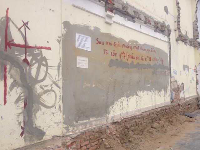 Hy hữu ở Hà Nội: Bức tường được rao bán 1 tỷ đồng