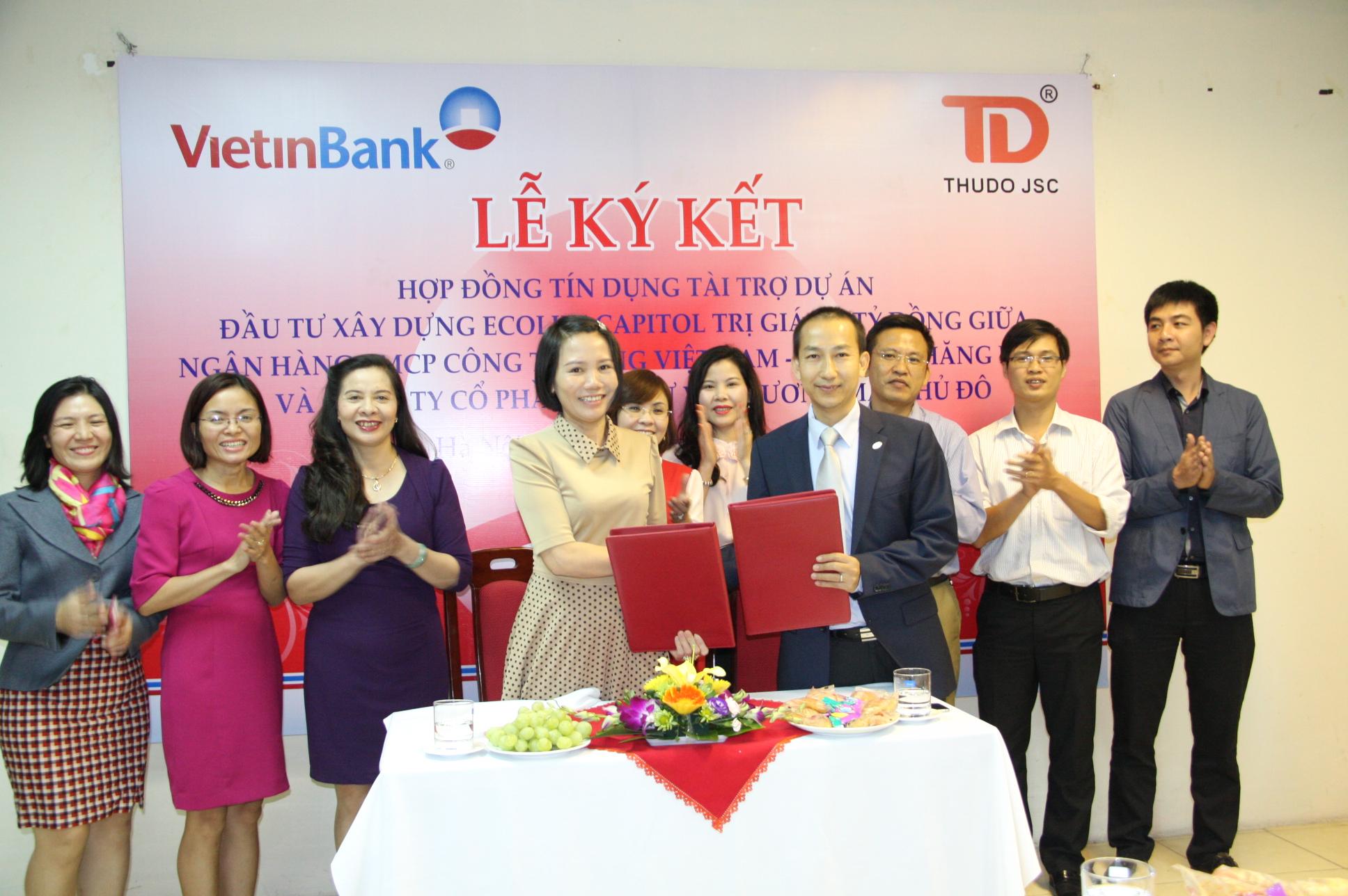 Ngân hàng VietinBank ký hợp đồng bảo lãnh cho dự án EcoLife Capitol