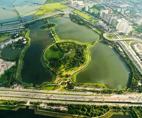 Công viên yên sở rực rỡ dưới nắng hạ