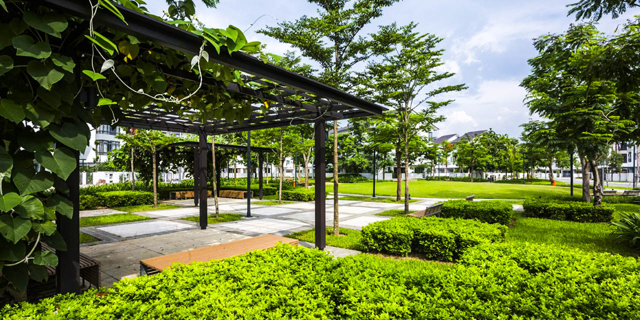 Cây xanh tại Gamuda Yên Sở