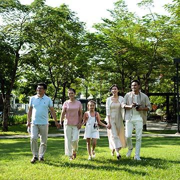 Cư dân vui chơi tại Liền kề Gamuda Yên Sở