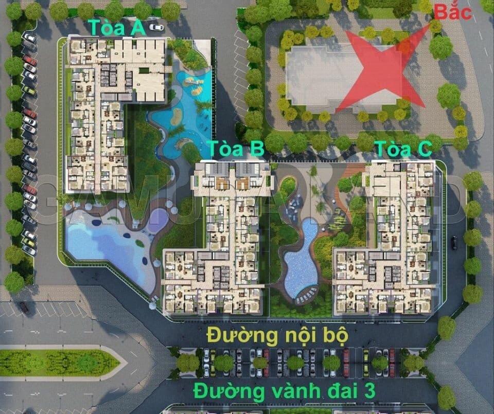 mặt bằng chung cư The zen Residence Gamuda