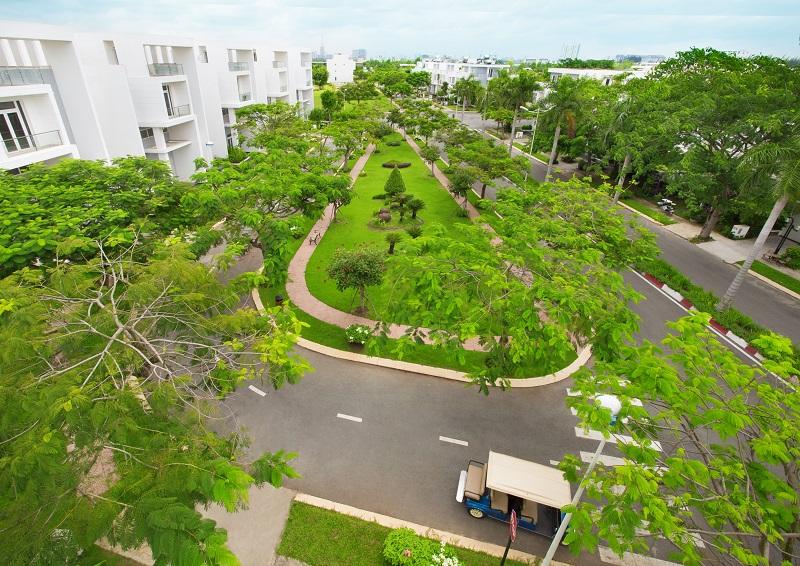 Chủ đầu tư đã dành hơn 50% diện tích toàn khu để xây dựng tiện ích và không gian xanh